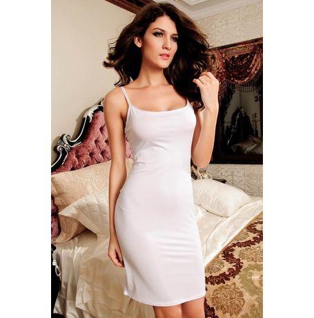 Spaghetti Straps Fashion Dress - JKDLLC2651, white, free  30-34 bust  30-34 waist  30-34 hips , 1 dress