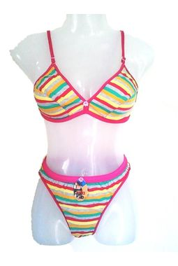 Multi Color daily wear premium bra panty sets JKSETMULTICOLOR- 001, 34-pattern1