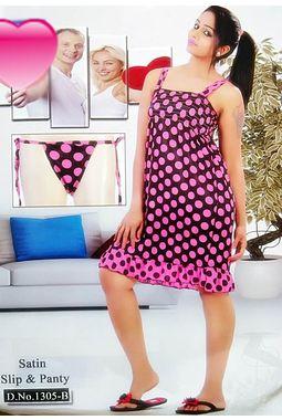 Sexy Satin Babydoll - JKDELJAICH-Baby, 1305 b- polkastraps-pink, free  30-36 bust  30-34 waist  30-36 hips