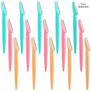 Cosmedik Twinkle Tiinkle Eyebrow Razor Pack of 15pcs (Color May Vary)
