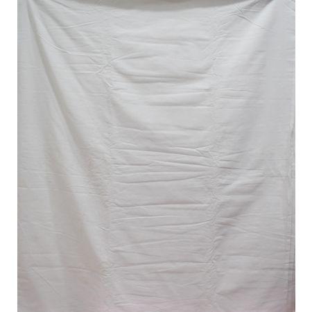 White color Handloom Plain Design Running Material of Telangana AJ001367