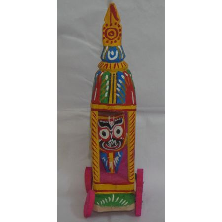 OHW019: Wooden Handicraft of Small Ratha(Cart) of Lord Jagannath.