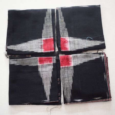 Handloom Cotton Handkerchief of Odisha, Sambalpur AJ001177 ( set of - 4)