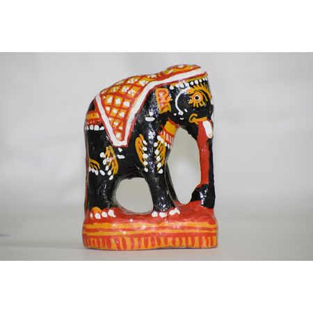 OHW014: Wood Carving Elephant Work Showpiece stand type.