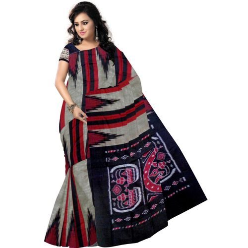 OSS7312: Multicolor handloom traditional tant sarees of Odisha