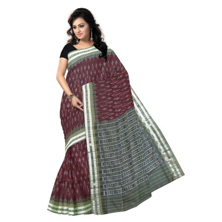 OSS9065: Maroon with Grey special design handwoven cotton sarees.