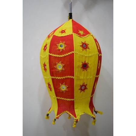 Embroidery With Mirror Work Handmade Pipili Lamp Shade AJ001695