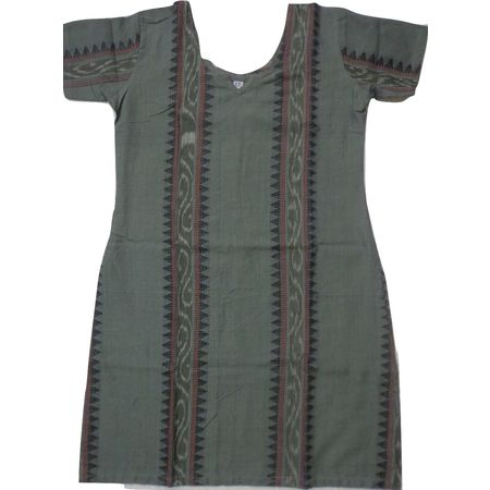 OSS8467: Handloom Cotton Kurti for girls.