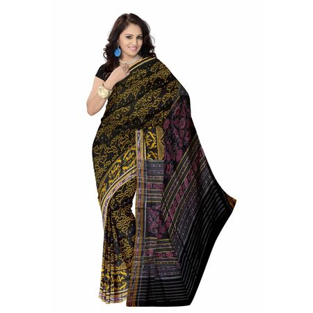 OSS7457: New collection Black Handloom cotton sarees for party wear