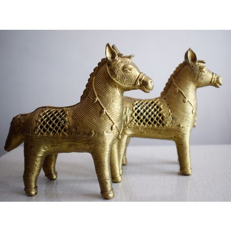 OHD005: Horse design Indian Handicrafts Dhokra