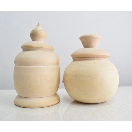 Handmade Wooden Sindura Pharua AJ001804 (set of - 2)