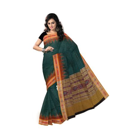 OSS154: Green color handloom Cotton Saree best for office wear