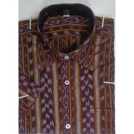 OSS9026: Deep Brown color handloom cotton shirt