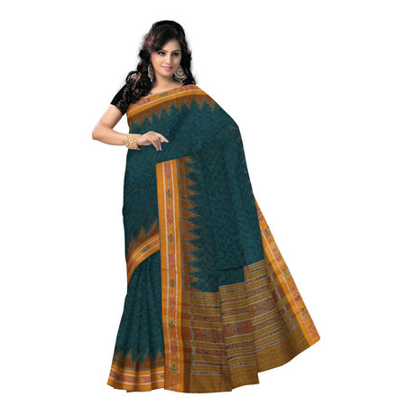 OSS423: Simple Cotton sari online shopping.