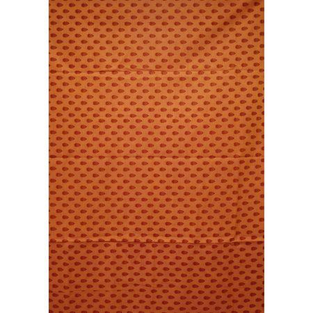 Rose Brown With Maroon Printed Handloom Cotton Dress Material of Telangana AJ001545