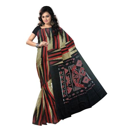 OSS9082: Multicolor handloom Cotton saree for casual wear.