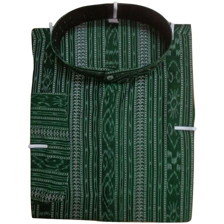 OSS8056: Green Handloom Kurta for party wear