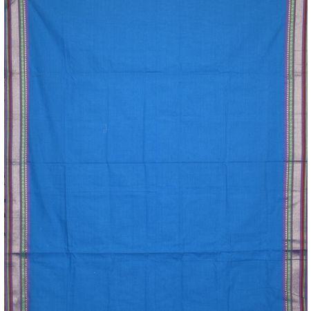Sky Blue with Violet Ladies Cotton Dress Material AJ001359
