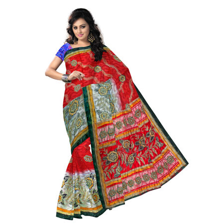 OSSWB046: Stunning Brasso Cotton Sarees with net of West Bengal at cheap price
