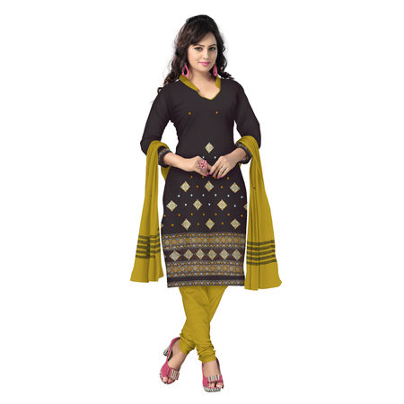 OSS6249: Coffee-Yellow combination Bomkai design Salwar Suits