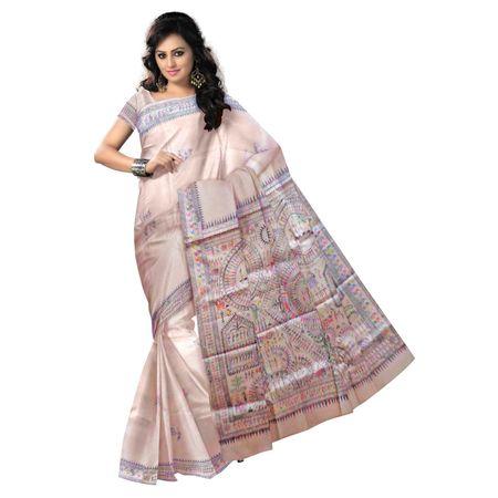 OSS20010: Handpainted sarees online