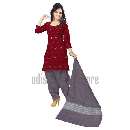 OSS6207: Red Pasapalli Handloom cotton salwar for young girl's.