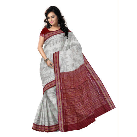 OSS9120: Light Sand Brown Pasapalli design Cotton Saree