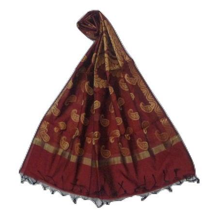OSSUP156: Banarashee Cotton Silk Antique Gold Zari Butti Dupatta.