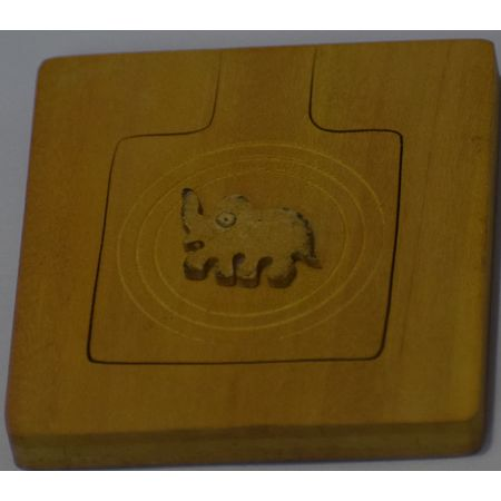 OHW008: Ladies Purse Instrument Wooden Hand crafted Square Mirror