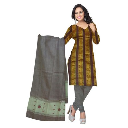 OSS2016: Buy Cotton three piece ladies handloom dress