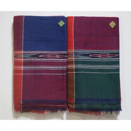 Multicolor Handwoven Cotton Sambalpuri Towel AJ002049