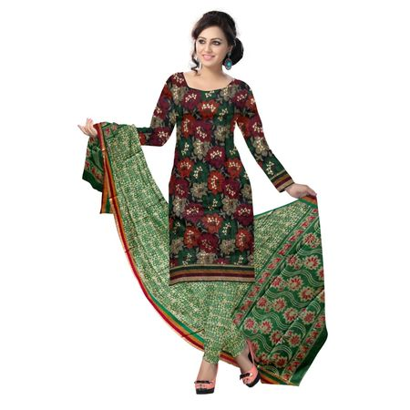 OSSTG6220: Multicolor floral print ladies dress material for Salwar Kameez