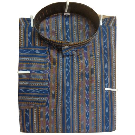 OSS8060: Handloom Ethinc Readymade Light Blue kurta for Men Online India