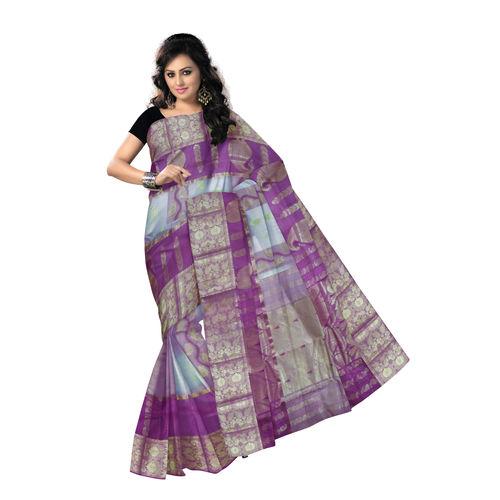 OSSWB9034: Handloom Resham Jamdani West Bengal silk Saree
