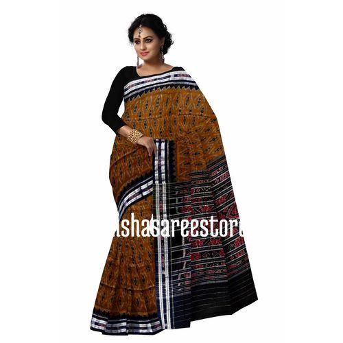 OSS7326: Handloom Cotton Saree gift shop for puja