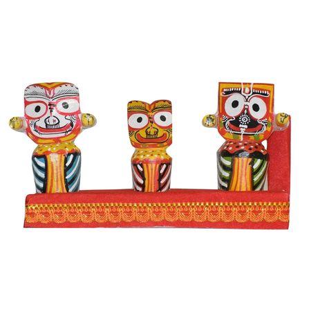 OHW013: Wooden handicrafts of Lord Jagannath, Balabhadra and Maa Shubhadra