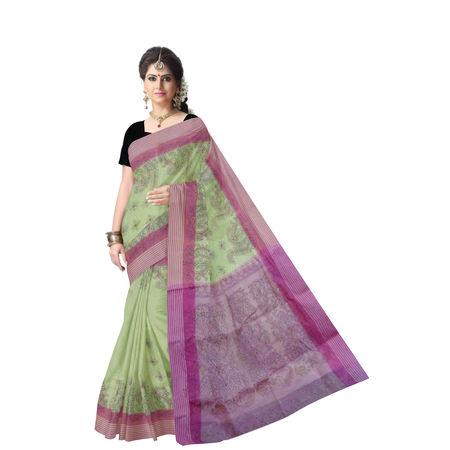 OSSWB9048: Stunning Kantha Work Cotton Saree of Bengal