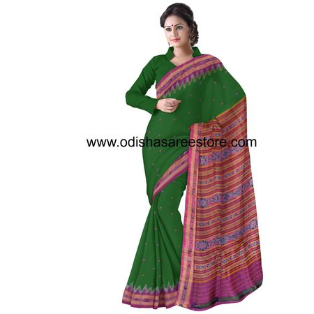 OSS5073: Traditional Green Handwoven Silk saree for party wear