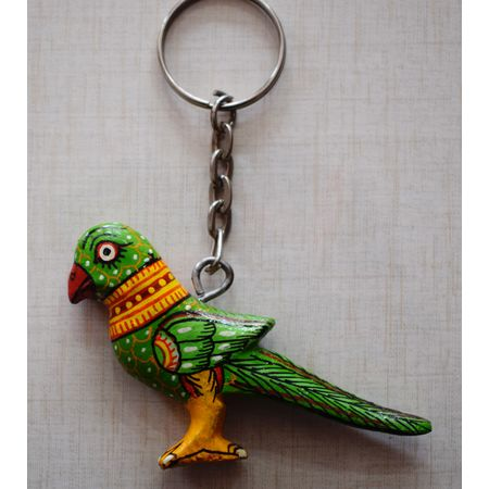 OHW011: Wooden handicrafts Parrot design Key chain.