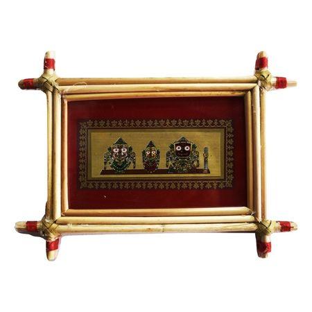 Patachitra Frame Painting Of Lord. Jagannath Pipili, Odisha AJ001689