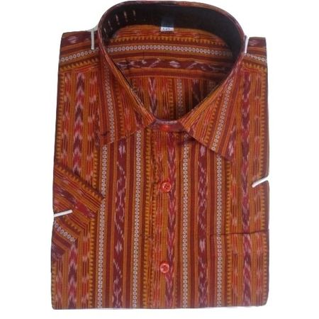 OSS8030: Deep Brown color readymade half Cotton Shirt