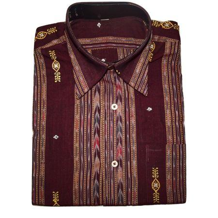 OSS3462: Handloom readymade sambalpuri cotton shirt (Size-40)