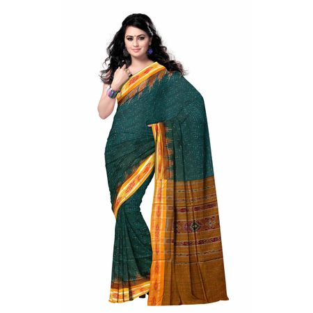 OSS7540: Cheap Green color handloom cotton indian sari