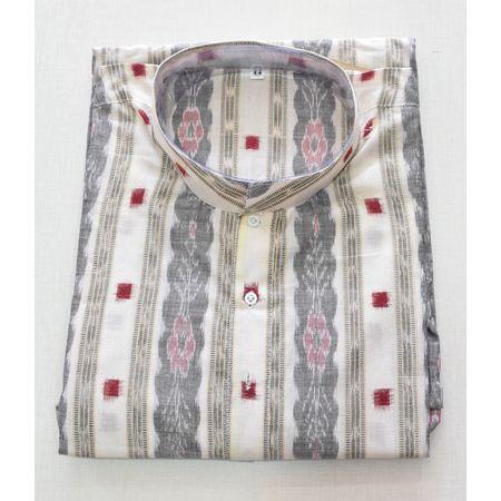 Multicolour Sambalpuri Handloom cotton Kurta for Men made in Odisha Sambalpur AJ001779