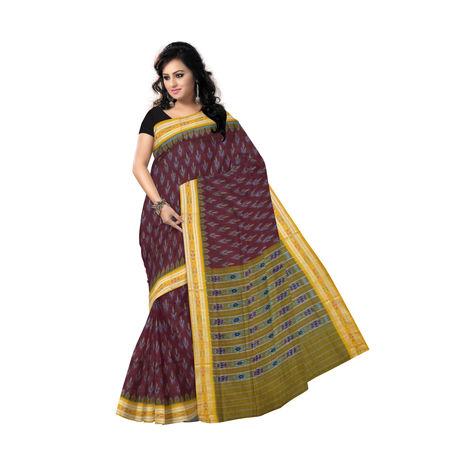 OSS233: Beautiful motifs in a cotton sambalpuri saree