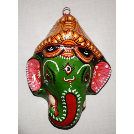 OHP075: Paper mache handicraft of Lord Ganesh Face.