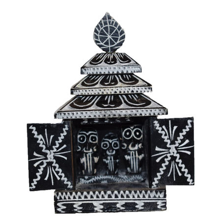OSS400009: Lord Jagannth Temple made of Black Stone Craft.