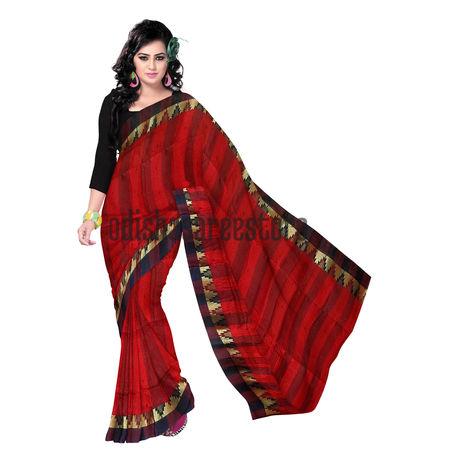 OSSWB086: West Bengal Temple motif's cotton sarees
