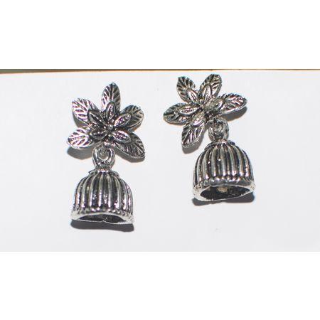 Black Metal Oxidized Handmade Rajasthani Earrings Jhumkas AJ001419