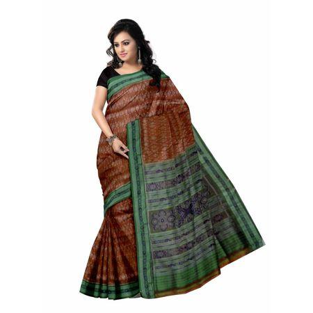 OSS851: Light Brown handloom Khandua Silk Sarees Online